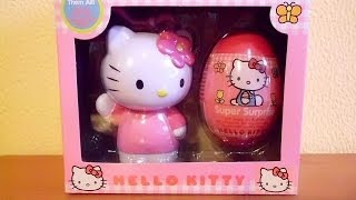 3D VIDEO: Hello Kitty Gift Set with Candy #2 Unboxing Surprise Eggs & Toys