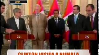 Clinton Visita A Humala