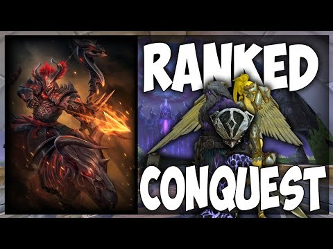 Smite: (Qualifying) Ranked Conquest Grind #2 - Hachiman ADC