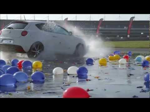 Alfa Romeo MiTo, аква дрифт