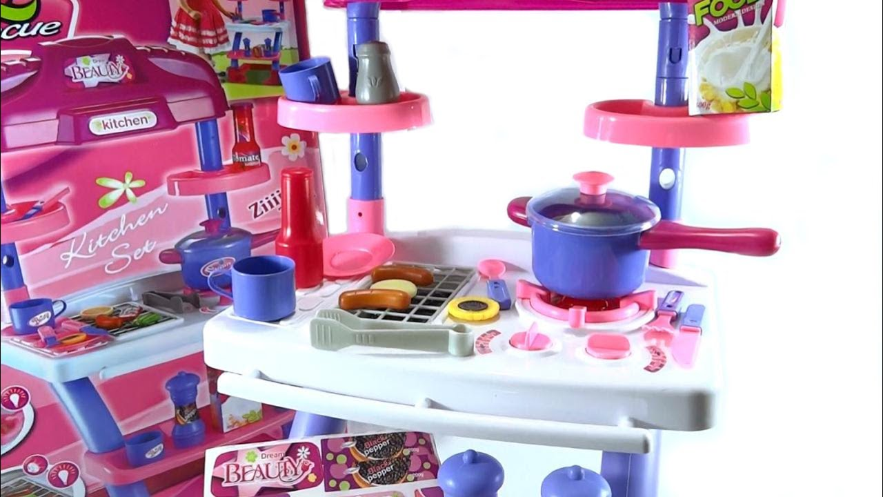 Cocina para ni as de juguete parrilla bbq con luces y - Cocinas para ninos de juguete ...