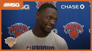 Julius Randle: I Feel Pretty Cool Wearing My Knicks Gear Every Day