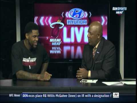 November 21, 2012 - Sunsports - Udonis Haslem becomes the Franchise Rebounder for the Miami Heat