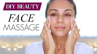 MY FACE MASSAGE ROUTINE ♥ Facial Yoga | Annie Jaffrey