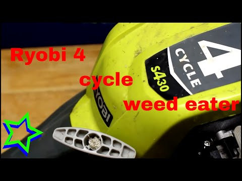 Ryobi 4 cycle gas trimmer/weed eater- review things i like and some i dont