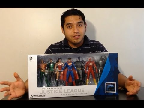 Justice League 7 Pack Figuras de Acción español unboxing y review dc comics