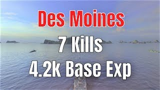 Des Moines T10 US Cruiser | 4.2k Base Exp, 7 Kills | World of Warships