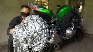 Phim Hài: Z1000 Cuộn 3 Tấn Xích và Tên Trộm 😂(Z1000 Rolls 3 Tons of Leash and Thief 😂)
