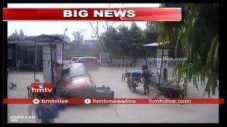 ఉత్తరప్రదేశ్ కనౌజ్లోని పెట్రోల్ బంక్లో కారు బీభత్సం..! Watch Exclusive CCTV Footage | hmtv