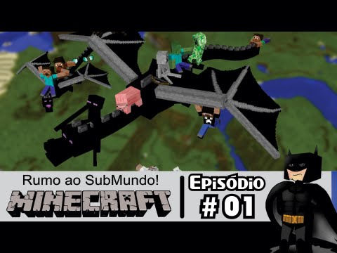 Minecraft PS3: Dragão do Ender #1 #LofS Rumo ao Submundo