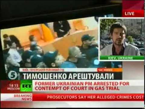 Yulia Tymoshenko Court Arrested, Handcuffed, Jailed