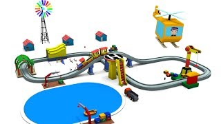 Train cartoon - helicopter for children - Cars for kids - Cartoon for kids - Cars cartoon