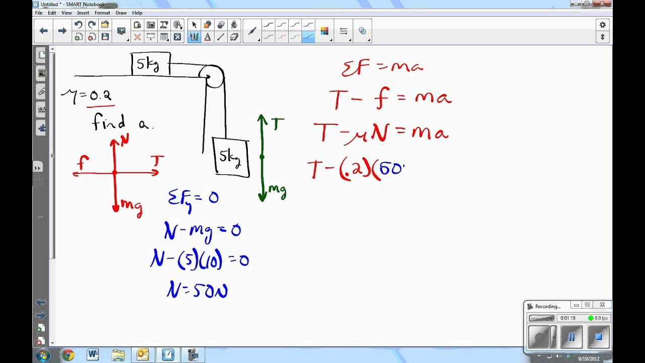 atwood machine tension equation