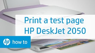 Printing a Test Page - HP Deskjet 2050 All-in-One Printer