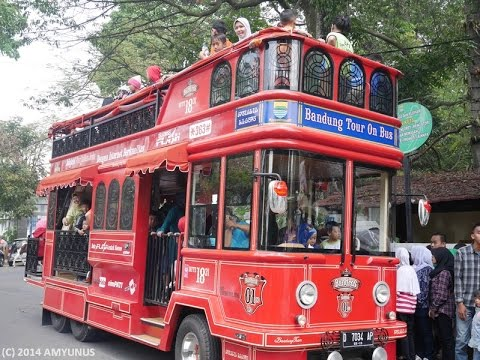 Video wisata bandung naik bus
