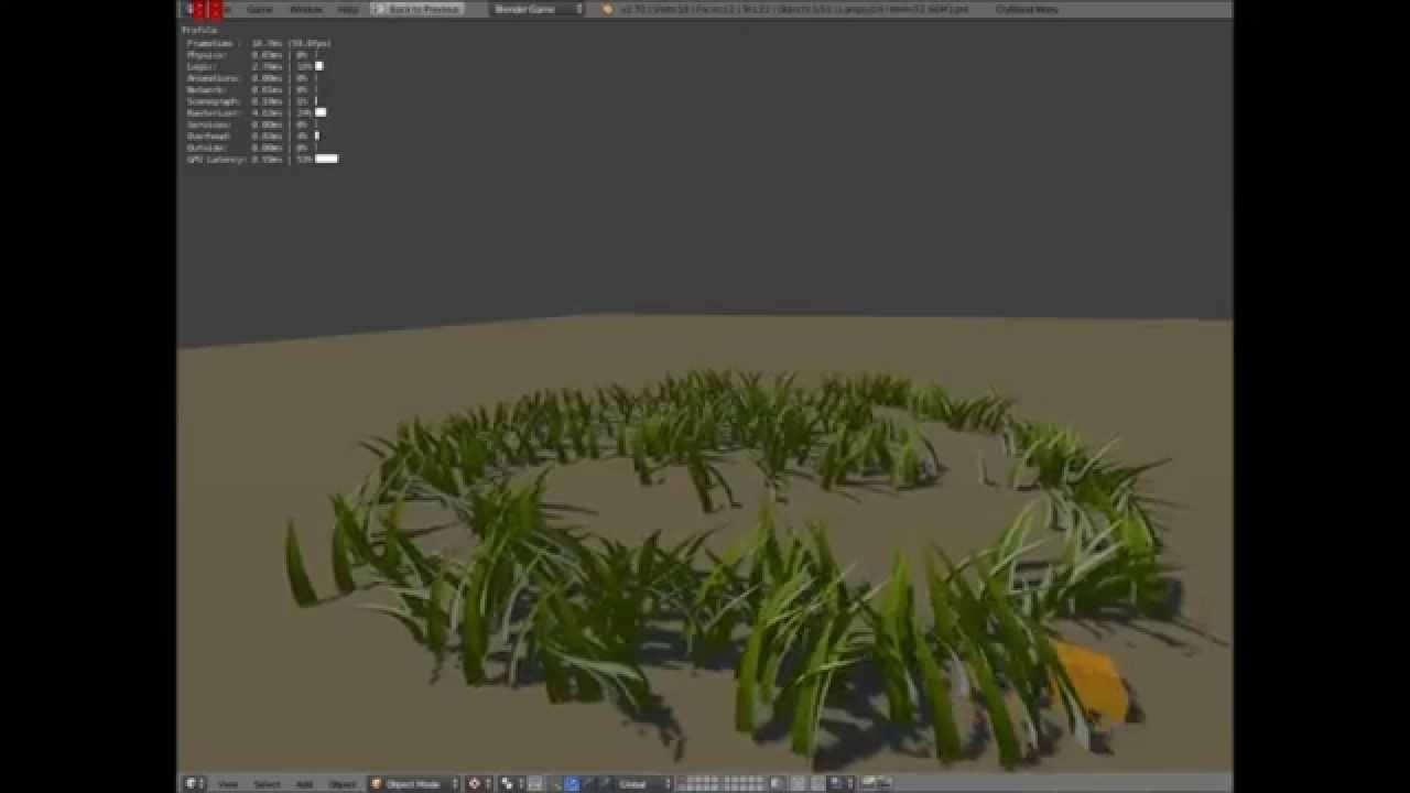 Blender Game Realtime Grass