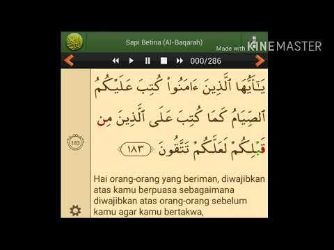 Part 1 (Belajar Tilawah QS. Al-Baqarah Ayat 183-184)