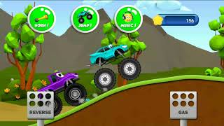 Monster Truck game - level 1 for kids with music