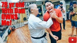 78yr Old 10th Dan Karate Owns me!   Okinawa Part 1   Eden Ang