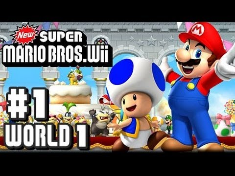 New Super Mario Bros Wii - Co-Op - Part 1 World 1