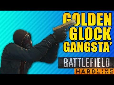 GOLDEN GLOCK GANGSTA' | Battlefield Hardline G17 Easter Egg & Weapon Advice