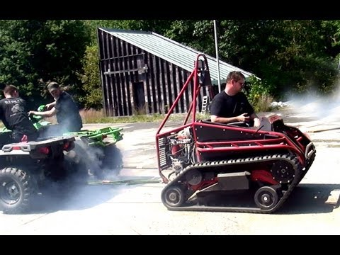 Ripchair (track chair) vs 2  Four-wheelers Ridiculous Full Pull!