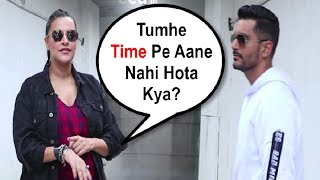 Neha Dhupia Shouts On Husband Angad Bedi For Coming Late On No Filter With Neha