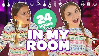 FUNNY 24 HOUR OVERNIGHT ROOM CHALLENGE (Christmas Room Tour 2018)?? | Piper Rockelle