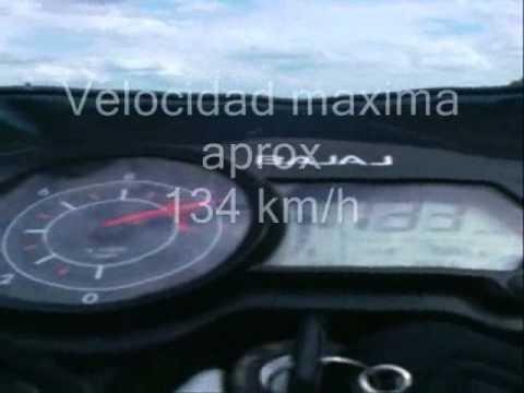 bajaj pulsar 135 aceleracion y velocidad maxima