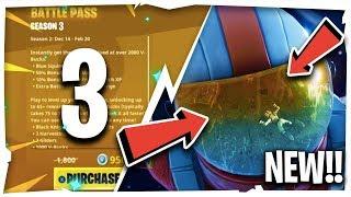 *NEW* SEASON 3 BATTLE PASS SKINS, CHALLENGES & MORE!! ( Fortnite Update News )