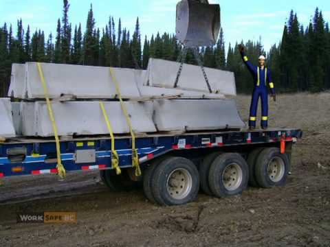 concrete barriers on flatbed