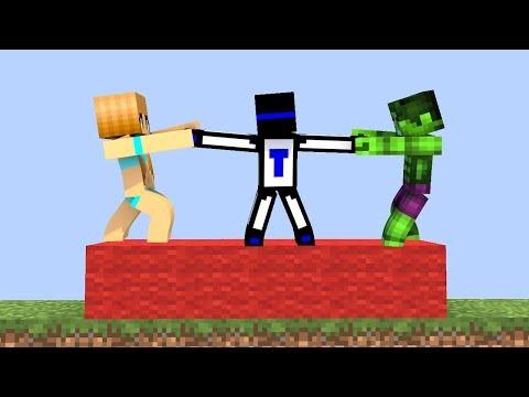 ПОПРОБУЙ УДЕРЖАТЬСЯ ДОЛЬШЕ ВСЕХ В КРАСНОЙ ЗОНЕ! - (Minecraft Mini Games)