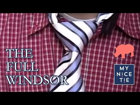 How To Tie A Tie for BEGINNERS - Full windsor how to tie a tie video step by step