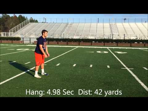 David Strickland | 3x All American | Point University | Punting Session SSC 12-13-14