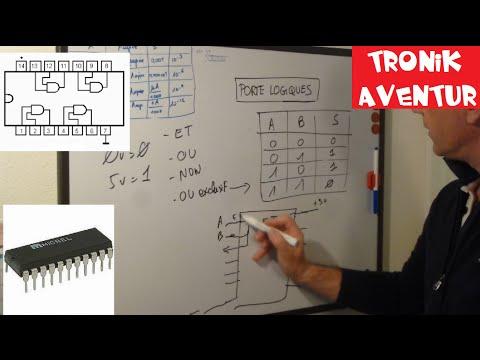 Electronique tuto 18 puces portes logiques et ou non for Porte logique