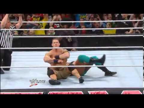 John Cena And Darren Young John Cena vs Darren Young Raw