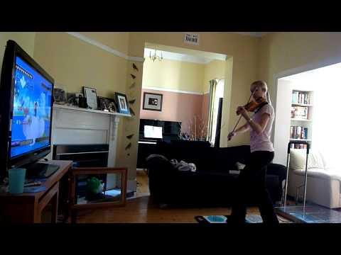 Tocando el violín y jugando videojuegos al mismo tiempo