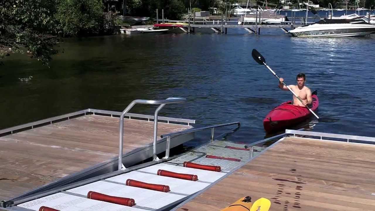 Kayak Launch Dock System - YouTube
