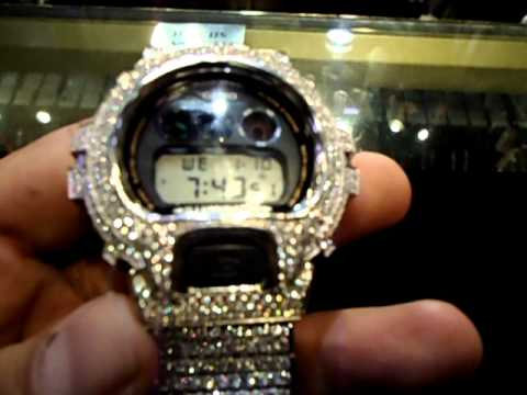 Mr. Chris Da Jeweler Custom Lab Diamond Real Casio Gshock Watch