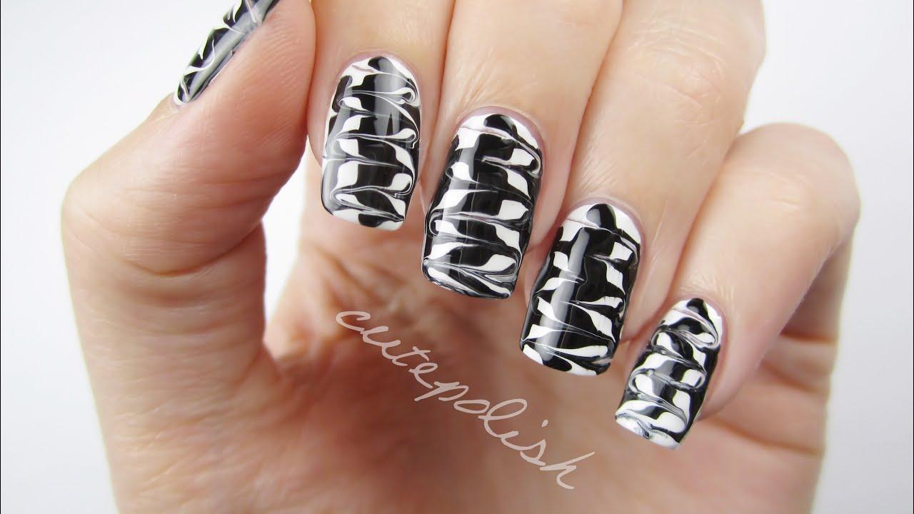 Black and white nail art designs
