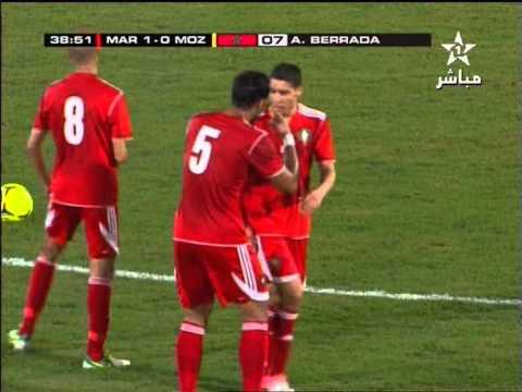Maroc Mozambique 1-0: But Abdelaziz Berrada (المغرب الموزمبيق - هدف برادة)