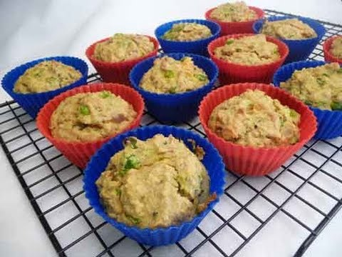 Savory Oat Muffins - Upma On The Go! Indian Recipe