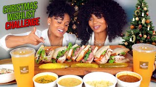 PANERA BREAD MUKBANG TASTE TEST + CHRISTMAS WISH LIST CHALLENGE