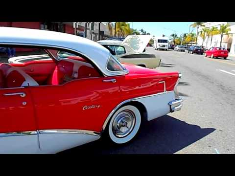 Red & white 1956 Buick Century