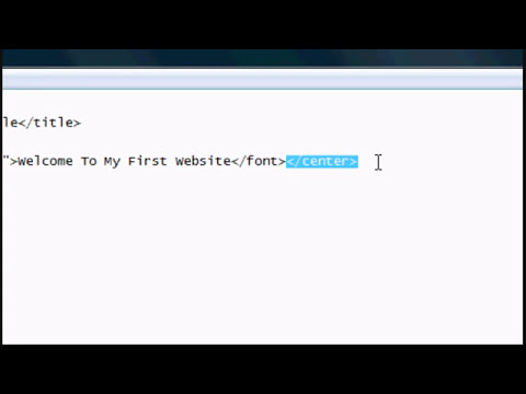HTML Tutorial 1   Designing A Website In Notepad   Basics and Beginnings   YouTube