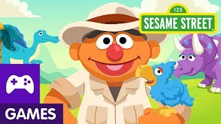 Sesame Street: Ernie's Dinosaur Day Care | Game Video