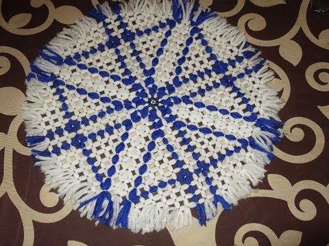 Tapete de lana redondo c mo hacer un tapete redondo de - Como hacer tapetes de ganchillo ...
