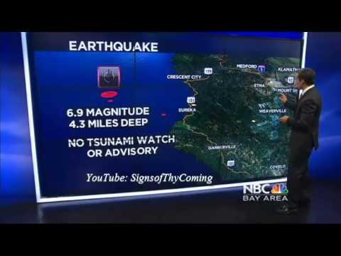 Earthquake : 6.9 Earthquake strikes off the Coast of Northern California near Eureka (Mar 10, 2014)