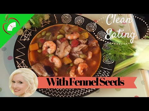 Clean Eating Fish & Prawn Stew Healthy Recipe with Fennel