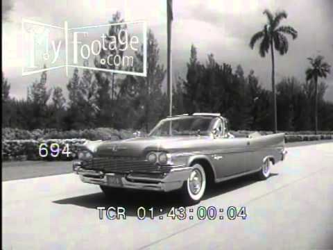 Stock Footage - 1959 Chrysler B-Roll w/ Shots of Hialeah Racetrack